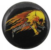 Metallica - 'Flaming Skull' Button Badge